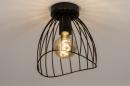 Plafondlamp 74166: modern, retro, metaal, zwart #4