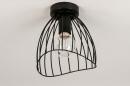 Plafondlamp 74166: modern, retro, metaal, zwart #5