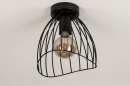 Plafondlamp 74166: modern, retro, metaal, zwart #6