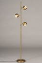 Vloerlamp 74194: modern, retro, messing, geschuurd #1