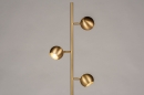 Vloerlamp 74194: modern, retro, messing, geschuurd #2