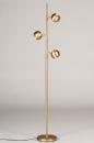 Vloerlamp 74194: modern, retro, messing, geschuurd #3