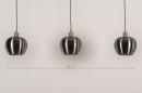 Hanglamp 74205: modern, aluminium, metaal, goud #1