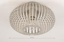 Plafondlamp 74223: modern, retro, metaal, beige #1