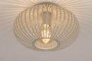 Plafondlamp 74223: modern, retro, metaal, beige #3