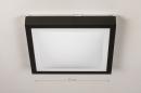 Plafondlamp 74226: modern, aluminium, kunststof, zwart #1