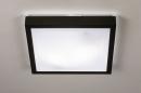 Plafondlamp 74226: modern, aluminium, kunststof, zwart #3