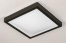 Plafondlamp 74226: modern, aluminium, kunststof, zwart #4