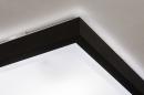 Plafondlamp 74226: modern, aluminium, kunststof, zwart #5