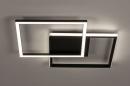 Plafondlamp 74227: design, modern, kunststof, metaal #4