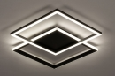 Plafondlamp 74227: design, modern, kunststof, metaal #5