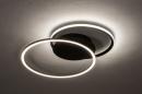 Plafondlamp 74228: design, modern, metaal, zwart #3