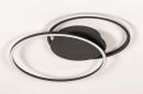 Plafondlamp 74228: design, modern, metaal, zwart #4