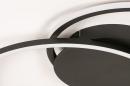Plafondlamp 74228: design, modern, metaal, zwart #5