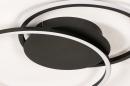 Plafondlamp 74228: design, modern, metaal, zwart #6
