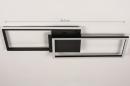 Plafondlamp 74229: design, modern, metaal, zwart #1