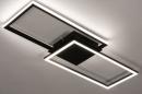 Plafondlamp 74229: design, modern, metaal, zwart #2