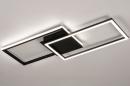 Plafondlamp 74229: design, modern, metaal, zwart #3
