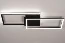 Plafondlamp 74229: design, modern, metaal, zwart #4