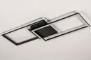 Plafondlamp 74229: design, modern, metaal, zwart #6