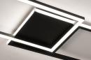 Plafondlamp 74229: design, modern, metaal, zwart #7