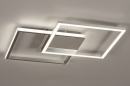 Plafondlamp 74230: design, modern, aluminium, kunststof #3