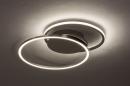Plafondlamp 74231: design, modern, aluminium, metaal #3
