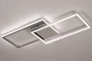 Plafondlamp 74232: design, modern, aluminium, kunststof #3