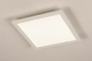 Plafondlamp 74233: modern, kunststof, metaal, wit #2