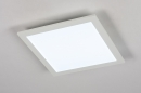 Plafondlamp 74233: modern, kunststof, metaal, wit #3