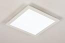 Plafondlamp 74233: modern, kunststof, metaal, wit #4