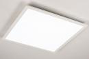 Plafondlamp 74234: modern, kunststof, metaal, wit #4