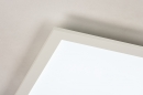 Plafondlamp 74234: modern, kunststof, metaal, wit #8