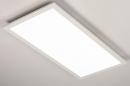 Plafondlamp 74235: modern, kunststof, metaal, wit #4