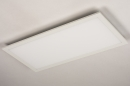 Plafondlamp 74235: modern, kunststof, metaal, wit #6