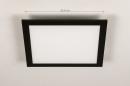 Plafondlamp 74236: modern, kunststof, metaal, zwart #1