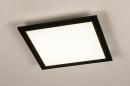 Plafondlamp 74236: modern, kunststof, metaal, zwart #2