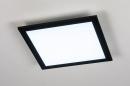 Plafondlamp 74236: modern, kunststof, metaal, zwart #3