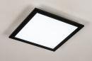 Plafondlamp 74236: modern, kunststof, metaal, zwart #4