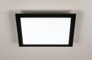 Plafondlamp 74236: modern, kunststof, metaal, zwart #5