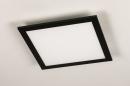 Plafondlamp 74236: modern, kunststof, metaal, zwart #6