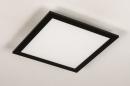 Plafondlamp 74236: modern, kunststof, metaal, zwart #7