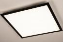 Plafondlamp 74237: modern, kunststof, metaal, zwart #2
