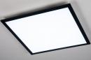 Plafondlamp 74237: modern, kunststof, metaal, zwart #3