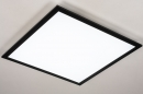 Plafondlamp 74237: modern, kunststof, metaal, zwart #4