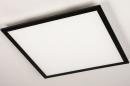 Plafondlamp 74237: modern, kunststof, metaal, zwart #6