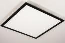 Plafondlamp 74237: modern, kunststof, metaal, zwart #7
