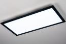 Plafondlamp 74238: modern, kunststof, metaal, zwart #3