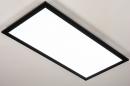 Plafondlamp 74238: modern, kunststof, metaal, zwart #4