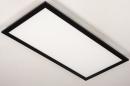 Plafondlamp 74238: modern, kunststof, metaal, zwart #6